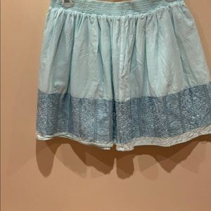 Light blue skirt with detailed embroidery